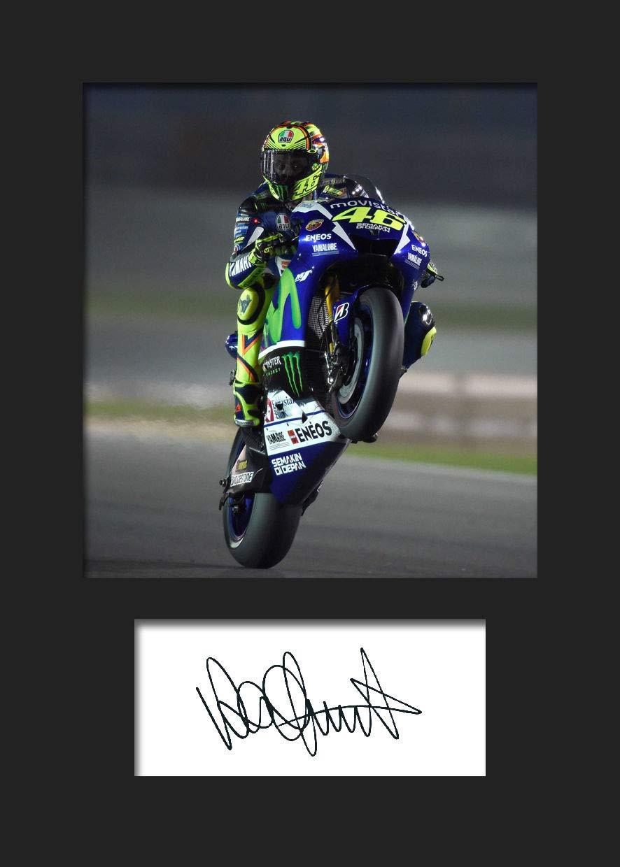 Valentino Rossi 3(FBA) A5autografo stampa FRAME SMART