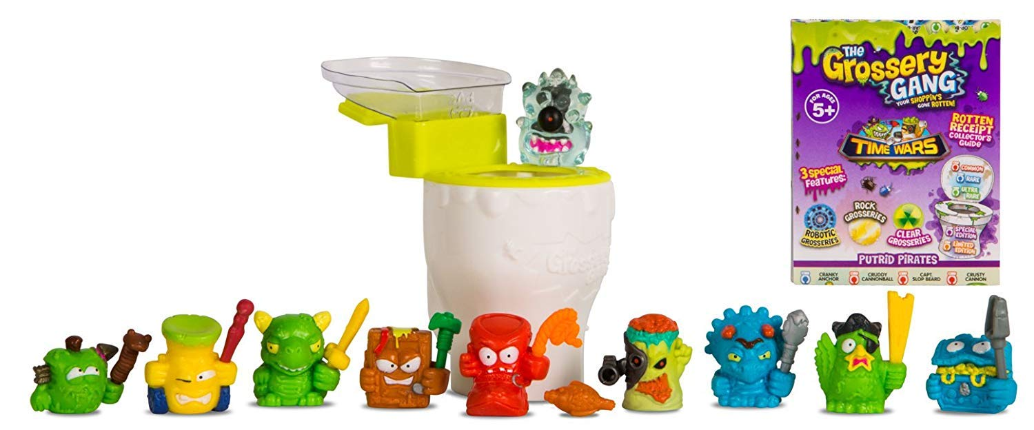 Flush N Fizz Stinky Slimy Toilet Bizarre Flush Bathroom Rotten Attack Pack 2 Creature Bundle 10-Pack Gang Time Wars Computer Virus Edition /& Flying Potty Poop Character Launcher FF-Gross