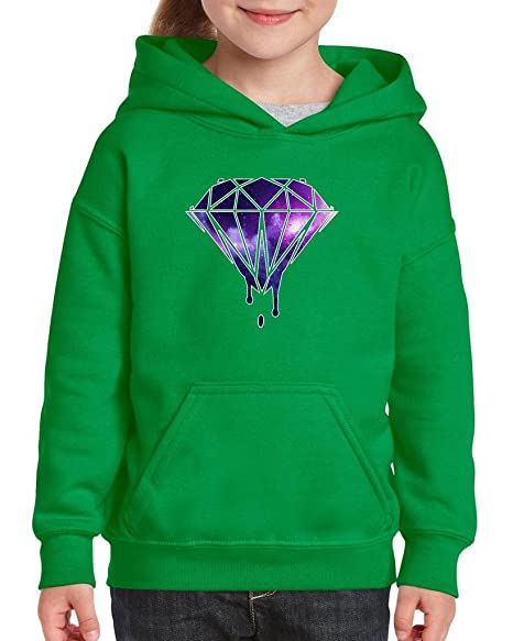 Artix Galaxy Diamond Swag Hip Hop Fashion People Best Friend Gifts Unisex  Hoodie For Girls and Boys Youth Kids Sweatshirt Clothing X,Small Irish Green