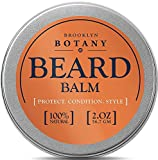 Facial Hair Styles Cool - Beard & Mustache Balm / Wax / Oil / Leave In Conditioner 2 oz - 100% Natural, Soothes Itching - Thickens, Strengthens, Softens, Tames & Styles Facial Hair - Brooklyn Botany
