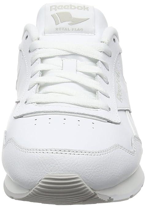 Reebok Royal Glide, Chaussures de Sport Homme, Blanc Cassé - Blanco (White/Steel Royal), 40.5