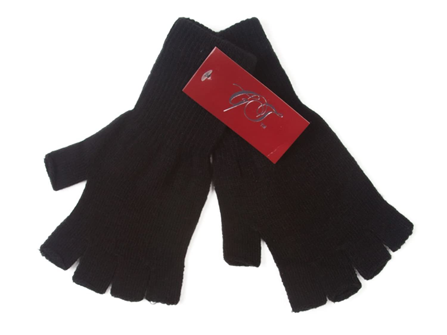 Driving gloves winter - Gravity Threads Unisex Warm Half Finger Stretchy Knit Gloves