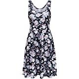 Womens Summer Dresses-2018 Hot Sale! Lady Casual Chiffon Sleeveless Round Neck Floral Skirt Casual Party Mini A-Line Dress