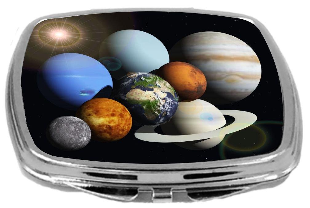 Rikki Knight Compact Mirror, Solar System Planets