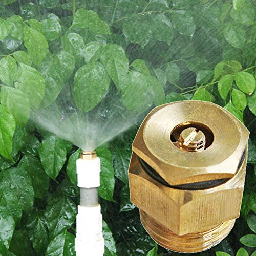LVOERTUIG 1/2 Inch Water Sprayer Pressure Nozzle Tips Adjustable Brass irrigate Spray Atomizing Centrifugal Hollow cone Tips for Knapsack Spraying