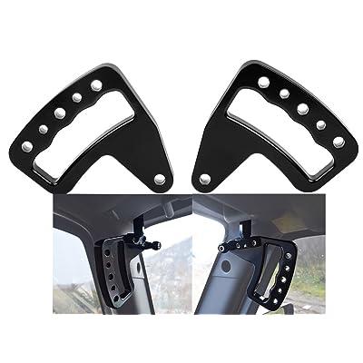 TOPNEW Black Aluminum Grab Bar Front Grab Handle for Jeep Wrangler JK JKU 2007-2020 Unlimited Rubicon Sahara Sport 2/4 Door - Pair: Automotive