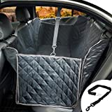 ihoven Dog Car Seat Covers - Waterproof Pet Seat Cover Non-slip Convertible Dog Hammock Scratch-proof Pets Seat Protector with Seat Belt and Pockets for Most Cars Trucks Automotives and SUVs