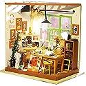 LULAA ドールハウス ミニチュア 手作りキットセット 画材室 教室 おしゃれなお店 LEDライト付属