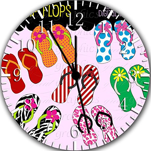 Borderless Flip Flops Frameless Wall Clock Z26 Nice for Decor Or Gifts