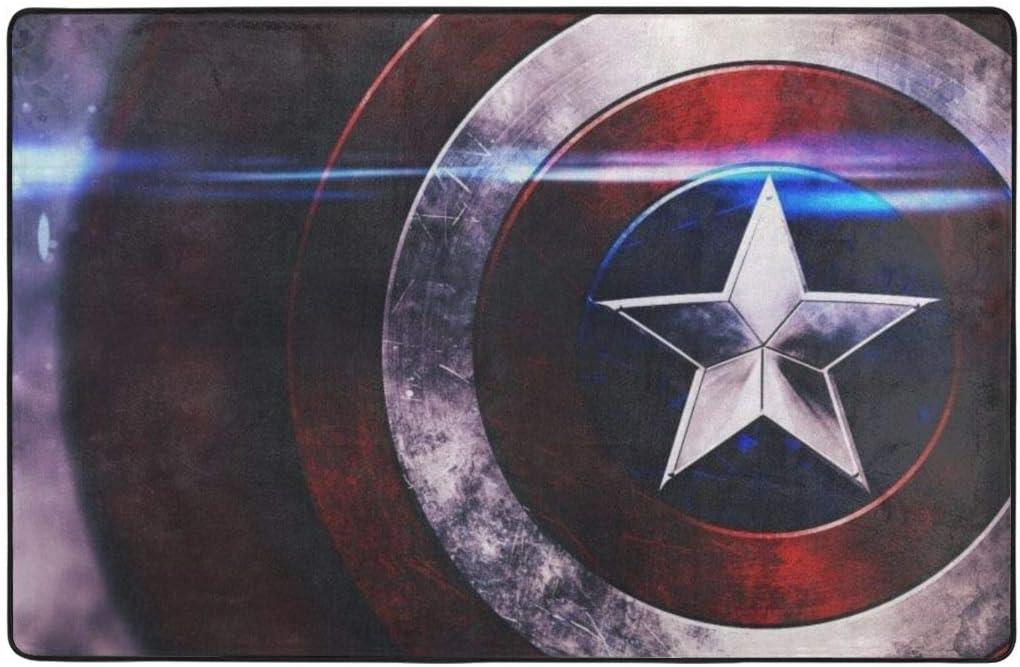 Captain America Shield Non-Slip Area Rug 60 X 39 Inches