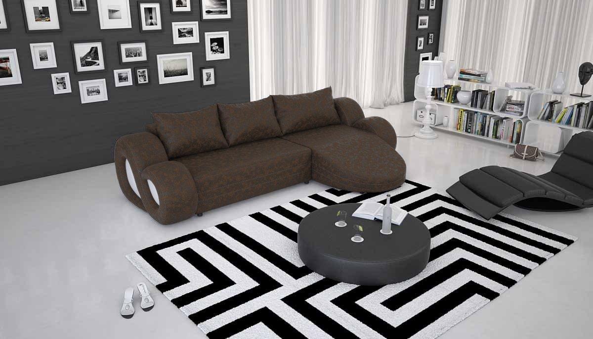 Free Ecksofa Mit Und Kunstleder Bezug Creme Wei X Cm Lform Ocean Moderne  Mit Recamiere Design Fr With Tm Design Sofa