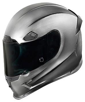 Icon fuselaje Pro Quicksilver plata/negro casco de moto