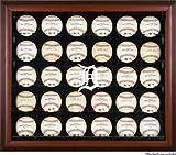 Mounted Memories Detroit TIgers 30 Ball Mahogany Baseball Display Case