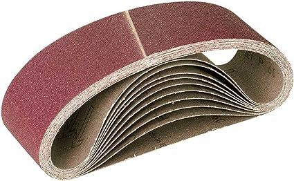 Lot de 10 G36 303 x 40 mm RETOL bandes abrasives ponceuses /à bande portatives p corindon normal