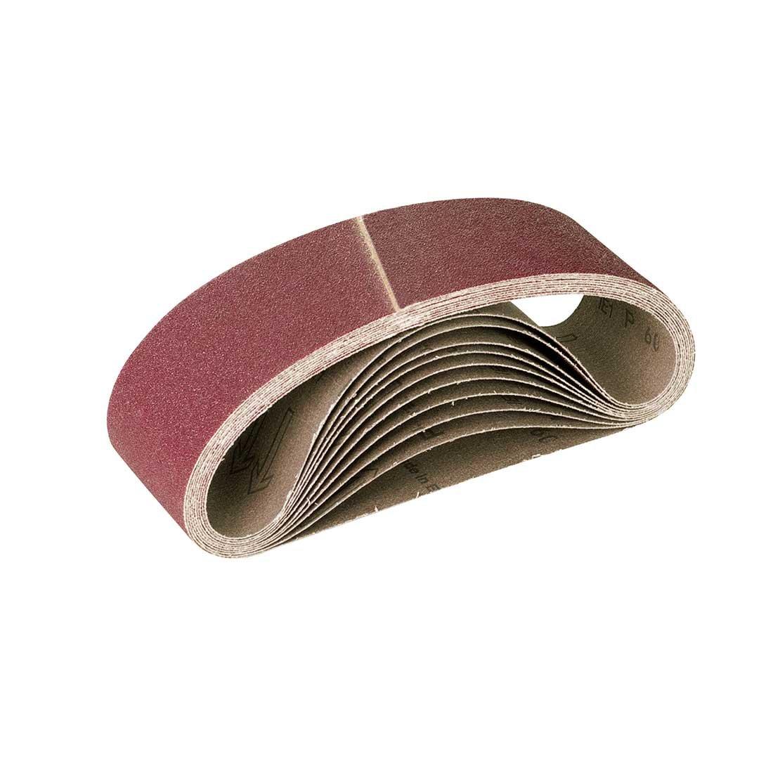 RETOL 10 bandes abrasives, 303 x 40 mm, G100, p. ponceuses à bande portatives, corindon normal
