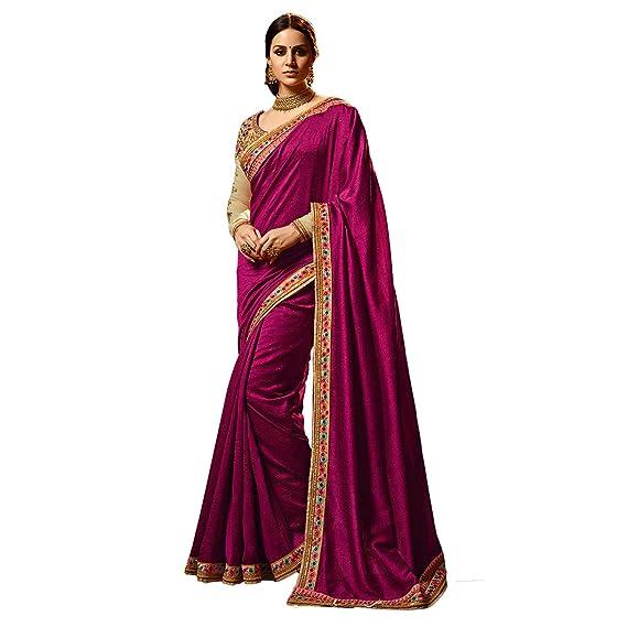 075f38e72f829e Women s Si Solid Saree Women s Sarees Silk Saree with Blouse Piece (Free  Size)  Amazon.in  Clothing   Accessories