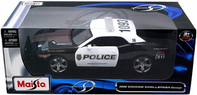 1:18 Maisto DODGE CHALLENGER CONCEPT Police 2006 Black//White