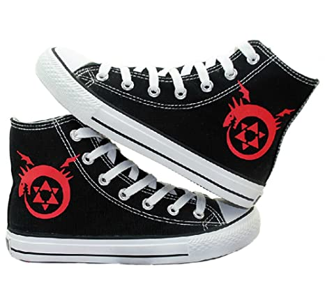 Fullmetal Alchemist Logo Cosplay Shoes Canvas Shoes Sneakers