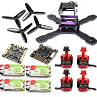 SpeedyFPV 130mm Racing Drone Kit with F3 Flight Controller, 1407 Motors, 20A ESC 2-4S Kit