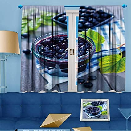Amazon Com Prunus Blackout Curtain Black Currant Jam Customized