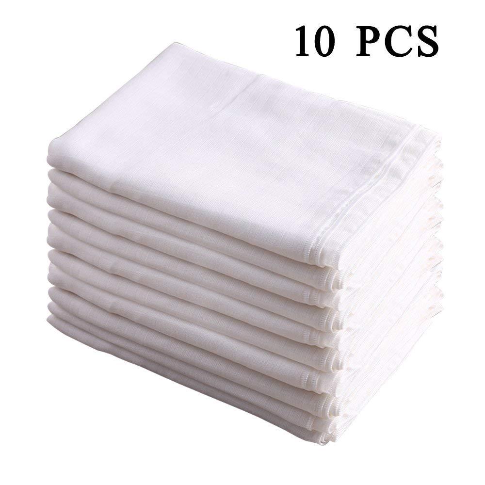 100% Baumwolle Doppel Gaze Spucktuch Vorgefaltete Windeln, Weiß 10 zählen 52 x 70cm von Busy Mom