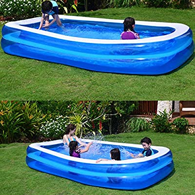 xlpace Rectangular Swimming Pool,Baby Kid Inflatable Swimming Pool Paddling Pool Large Size Thickened Square Swimming Pool: Home & Kitchen