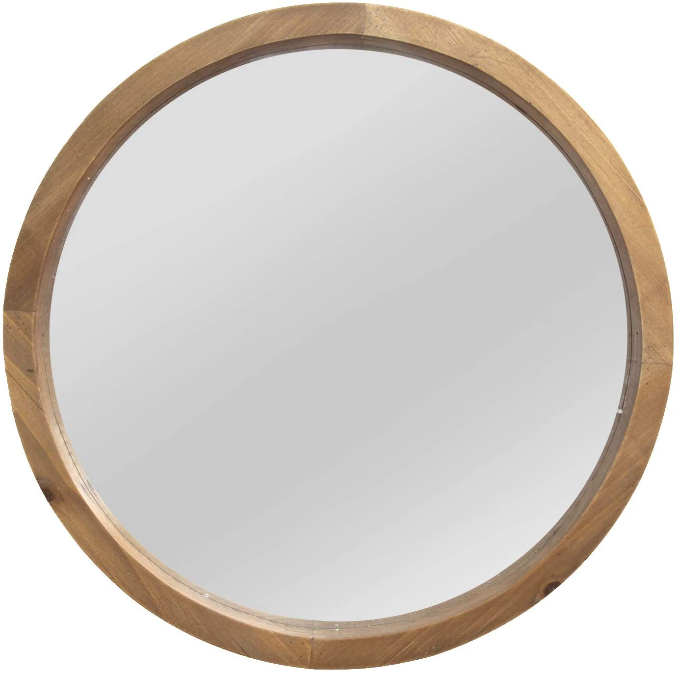 Stratton Home Decor Maddie Wood Mirror, Light Natural Wood, 20.00 W X 2.25 D X 20.00 H (S13562)