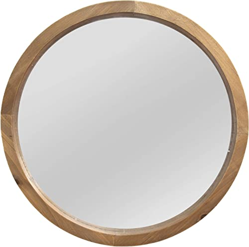 Stratton Home Decor Maddie Wood Mirror, Light Natural Wood, 20.00 W X 2.25 D X 20.00 H S13562