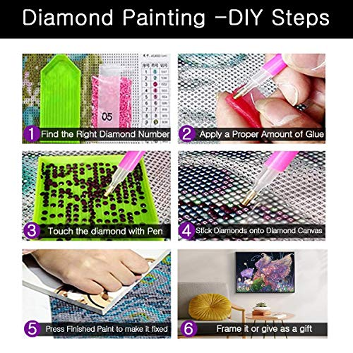 NEILDEN Diamond Painting,Full Round Drill 5D DIY Diamond Art Kits for Adults,Perfect for Gifts and Home Wall Decor 12\