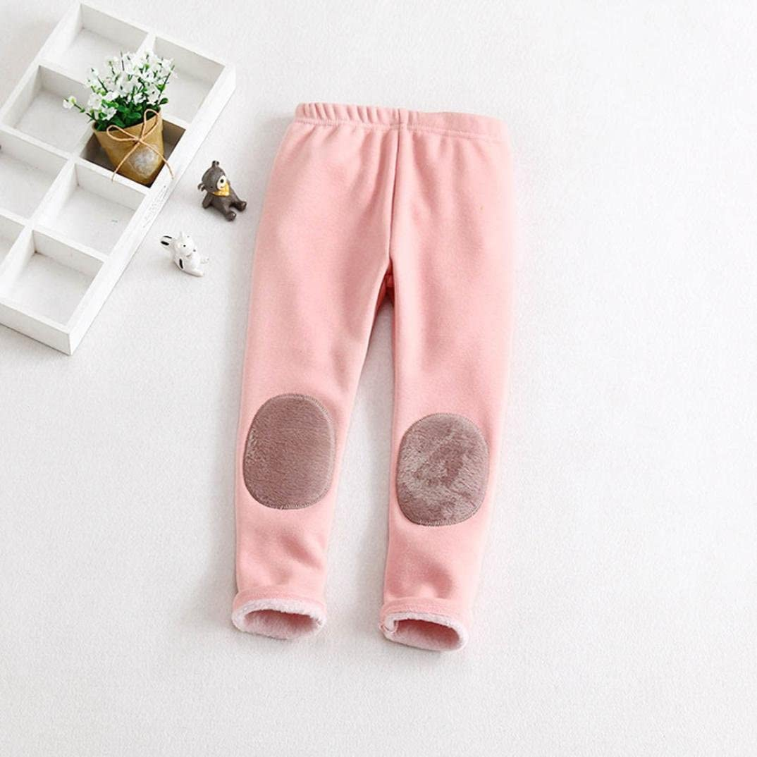 2~3years Starxin Newborn Toddler Kid Baby Girls Boys Fashion Cute Cotton Stretch Leggings Warm Thick Lined Long Pants Trousers Pink, 3T