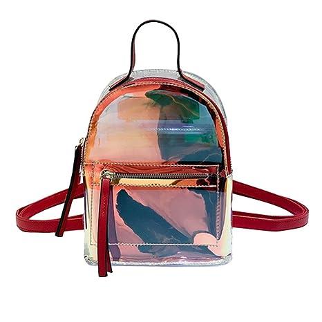 selezione premium 9041f ac15c UEB Mini Zaino Donna in PVC Trasparente Zaino di Viaggio ...