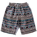 GREFER Summer Fashion Causal Men Couples Pants Beach Floral Bohe Swim Shorts