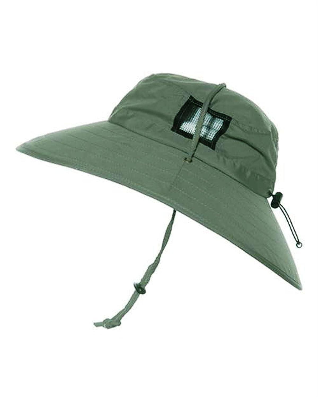 Sun Protection Zone Unisex Lightweight Adjustable Outdoor Booney Hat (100 SPF, UPF 50+) UPF 50+) - Black