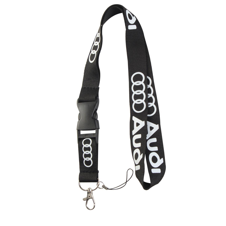Lanyard Keychain Holder Keychain Key Chain Black Lanyard Clip with Webbing Strap (Audi)