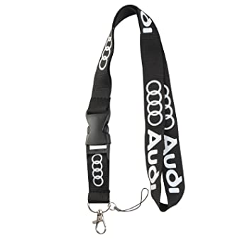 cbe02faeabbfd Lanyard Keychain Holder Keychain Key Chain Black Lanyard Clip with Webbing  Strap (Audi)