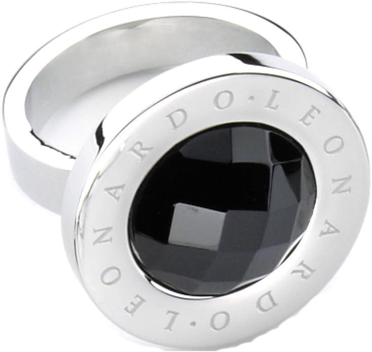 Leonardo Jewels Classic Damen Ring Schwarz Matrix Gr. 16