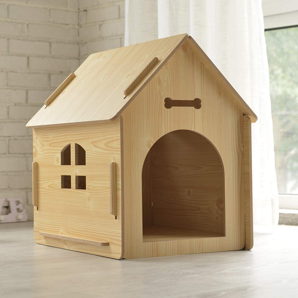 , Style 1 51 x 40 x 52 cm M Thematys Wooden Dog Kennel I Dog House for Indoor and Outdoor I Sleeping Space for Pets I Weatherproof and Scratch-Resistant I Various Sizes and Colours