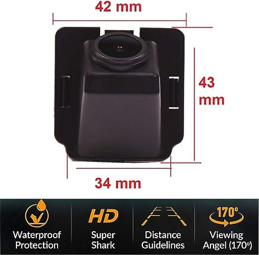 Rear Reversing Backup Camera Rearview License Plate Replacement Camera Night Vision Ip69k Waterproof for Mitsubishi Outlander XL//Outlander//Citroen C-Crosser//Peugeot 4007 2007~2012