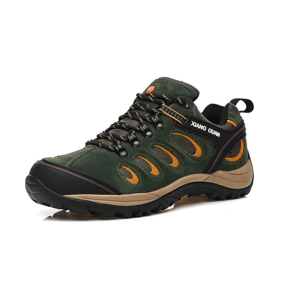 XIANG GUAN Herren Low-top Lace-up Wildleder Wasserdicht Outdoorschuhe Sport Camping Wandern Walking Trekking Schuhe