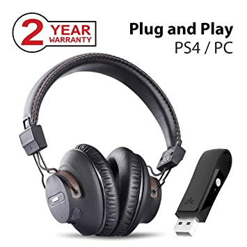 Avantree DG59 Auriculares Inalámbricos PS4 Gaming con Bluetooth USB Transmisor de Audio para PC, Ordenador