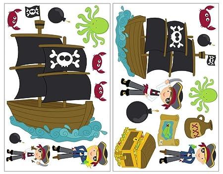 19 Juego de Piratas Juego de Adhesivo Tarjeta del Tesoro ...