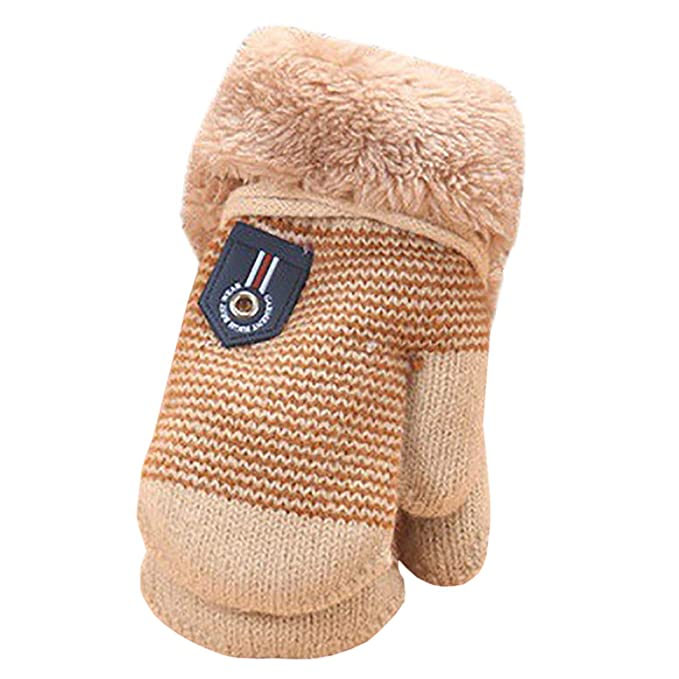 a87f6df0b055d4 EZSTAX Unisex Jungen Mädchen Halbfinger Handschuhe fingerlose Handschuhe  Fäugstlinge warme halbe Finger Strick Handschuhe mit Flip Top: Amazon.de:  ...