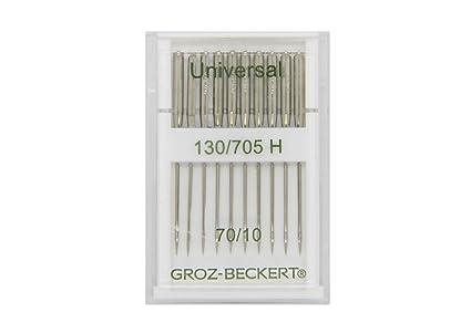 Groz-Beckert 10 Paquete Universal de Agujas 130/705H con Plano ...