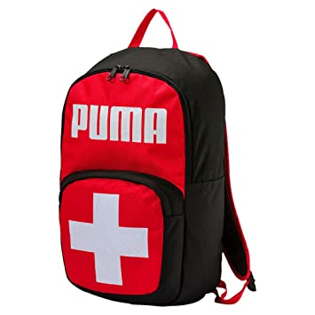 Puma Swiss Mochila Poliéster Negro, Rojo, Blanco - Mochila para portátiles y netbooks (