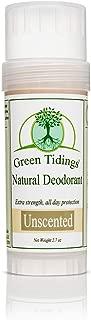 product image for Green Tidings Natural & Unscented Deodorant | Vegan, Organic Deodorant for Men and Women, Fragrance Free & Aluminum Free Deodorant, Underarm Antiperspirant 2.7oz 1 Pack