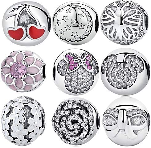 Color: 17, Item Diameter: 13mm Pukido 100/% 925 Sterling Silver Beads Christmas Style Charm Bead Fit Original Brand Bracelet Silver Jewelry