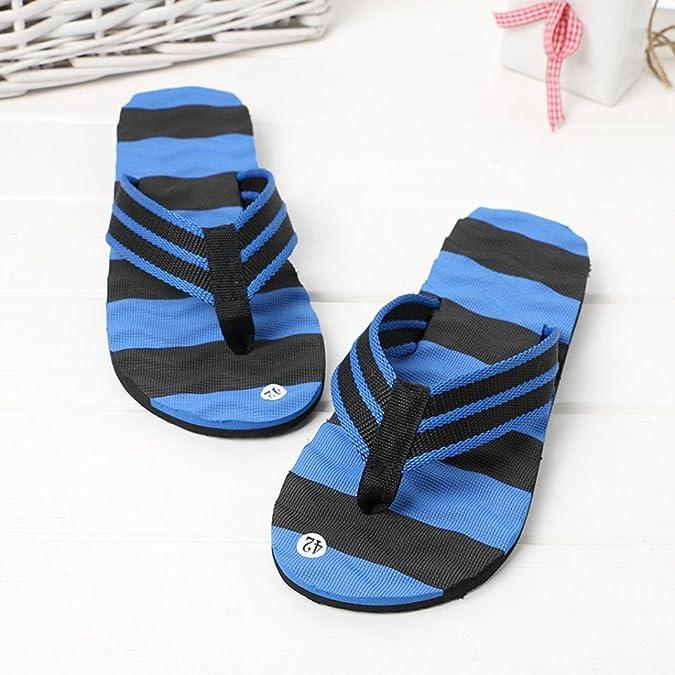 LHWY Herren Slipper, Männer Sommer Sandalen Slipper Fashion Casual Indoor  Outdoor Flip-Flops Zehentrenner Strand Schuhe Schwarz Blau: Amazon.de:  Schuhe & ...