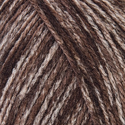 Mary Maxim Starlette Yarn - Brown Heather - 100% Ultra Soft Premium Acrylic Yarn for Knitting and Crocheting - 4 Medium Worsted Weight ()