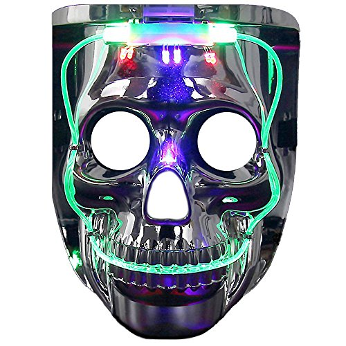 Awesome Halloween Costumes For Cheap (Light up Mask, DAXIN DX LED Halloween Scary Mask US Flag/Skeleton Costume for Men Women Kids,LED Jason)