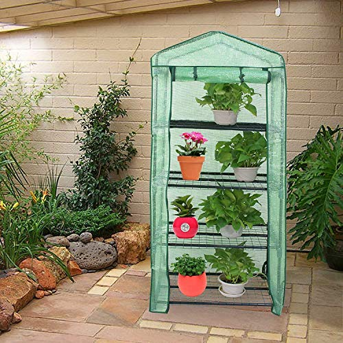 4-Tier Greenhouse Cultivating Plants Seeds Flowers Storage Green House Shelves